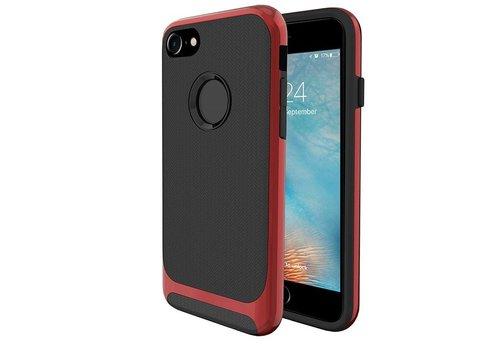 Apple Iphone 8 Slim Carbon hybrid telefoonhoesje - Rood