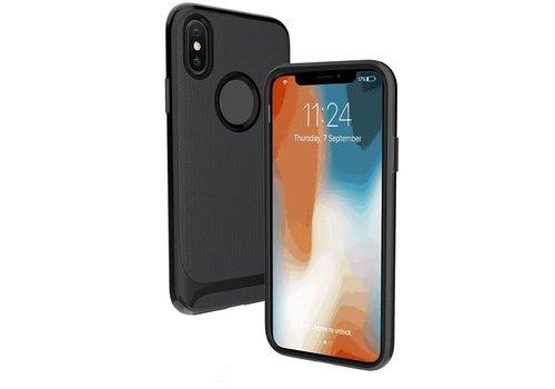 Apple Iphone X Slim Carbon hybrid telefoonhoesje - Zwart