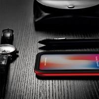 thumb-Apple Iphone X Slim Carbon Hybrid telefoonhoesje - Rood-3