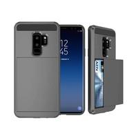 Samsung S9 Hybrid telefoonhoesje kaarthouder - Grijs