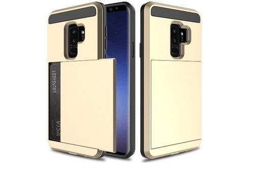 Samsung S9 Hybrid telefoonhoesje kaarthouder - Goud