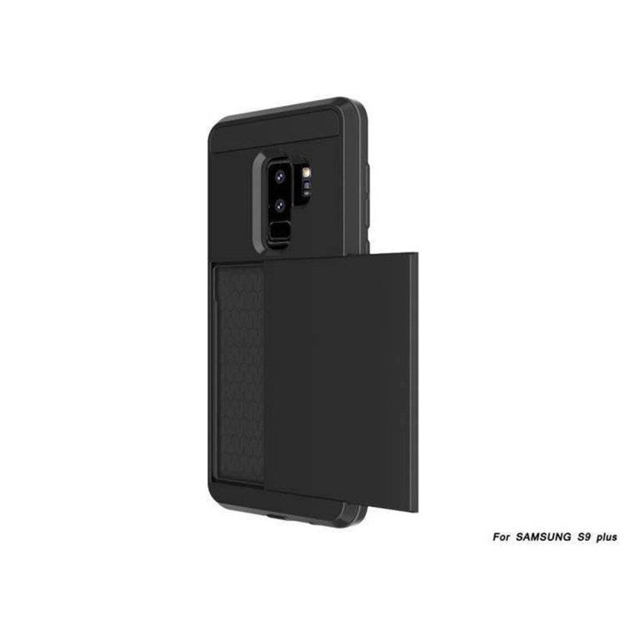 Samsung S9 Plus Hybrid telefoonhoesje kaarthouder - Zwart-2