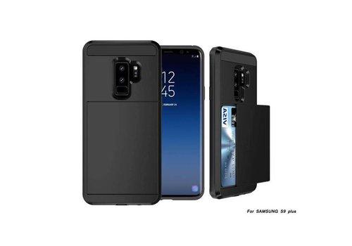 Samsung S9 Plus Hybrid telefoonhoesje kaarthouder - Zwart