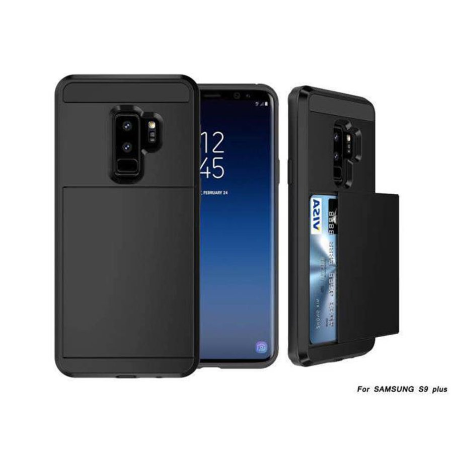 Samsung S9 Plus Hybrid telefoonhoesje kaarthouder - Zwart-1