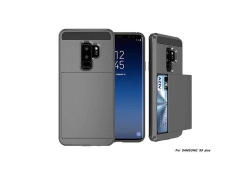 Samsung S9 Plus Hybrid telefoonhoesje kaarthouder - Grijs