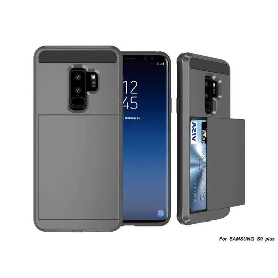 Samsung S9 Plus Hybrid telefoonhoesje kaarthouder - Grijs-1