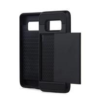 Samsung S8 Hybrid telefoonhoesje kaarthouder - Zwart