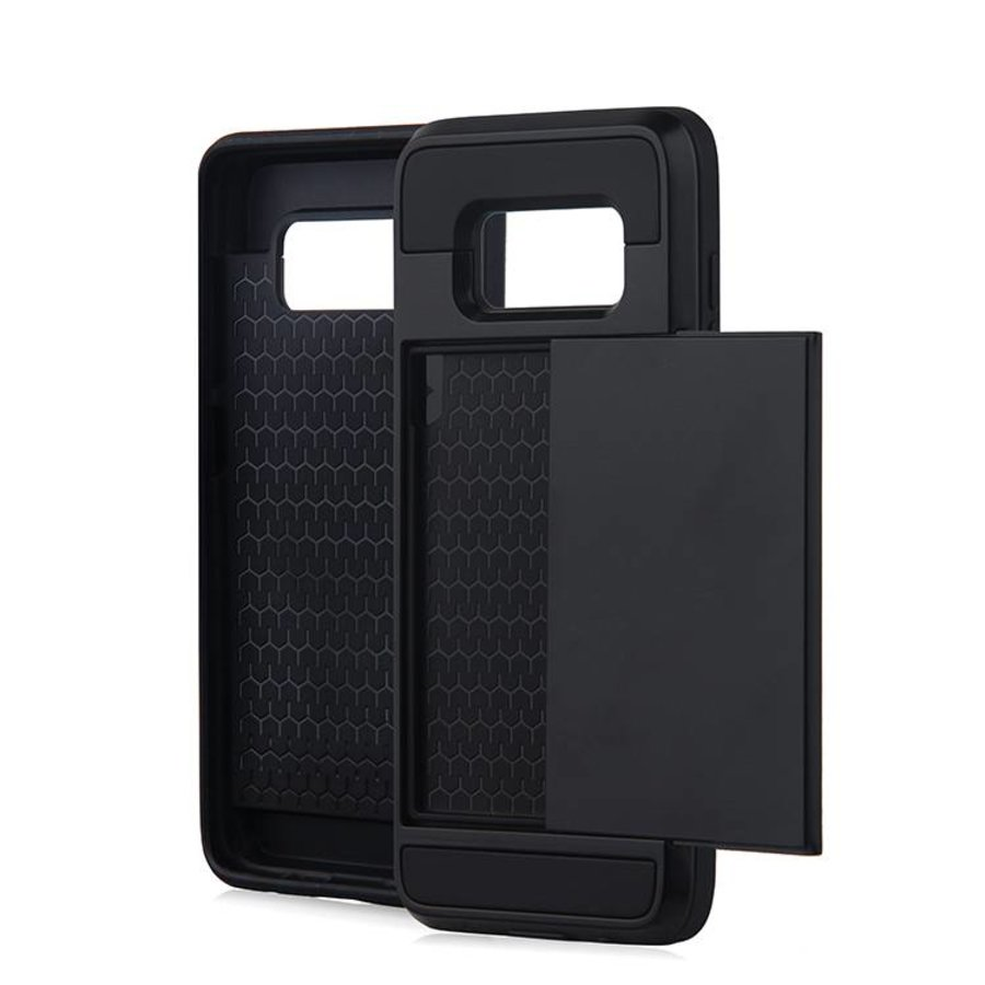 Samsung S8 Hybrid telefoonhoesje kaarthouder - Zwart-1