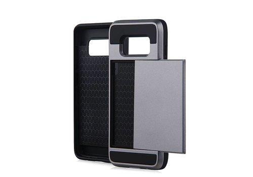 Samsung S8 Hybrid telefoonhoesje kaarthouder - Grijs