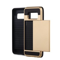 thumb-Samsung S8 Hybrid telefoonhoesje kaarthouder - Goud-1