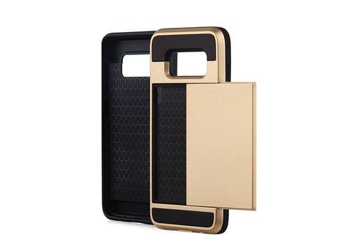 Samsung S8 Hybrid telefoonhoesje kaarthouder - Goud