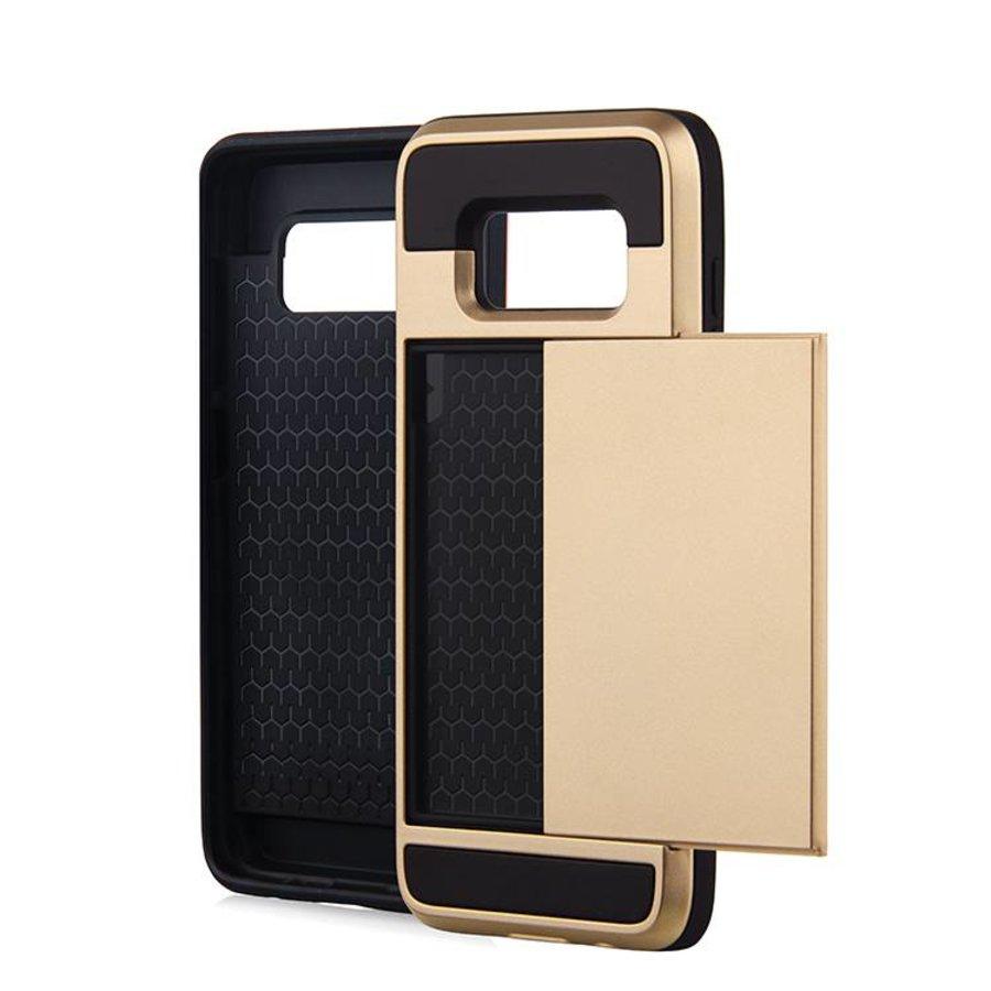 Samsung S8 Hybrid telefoonhoesje kaarthouder - Goud-1