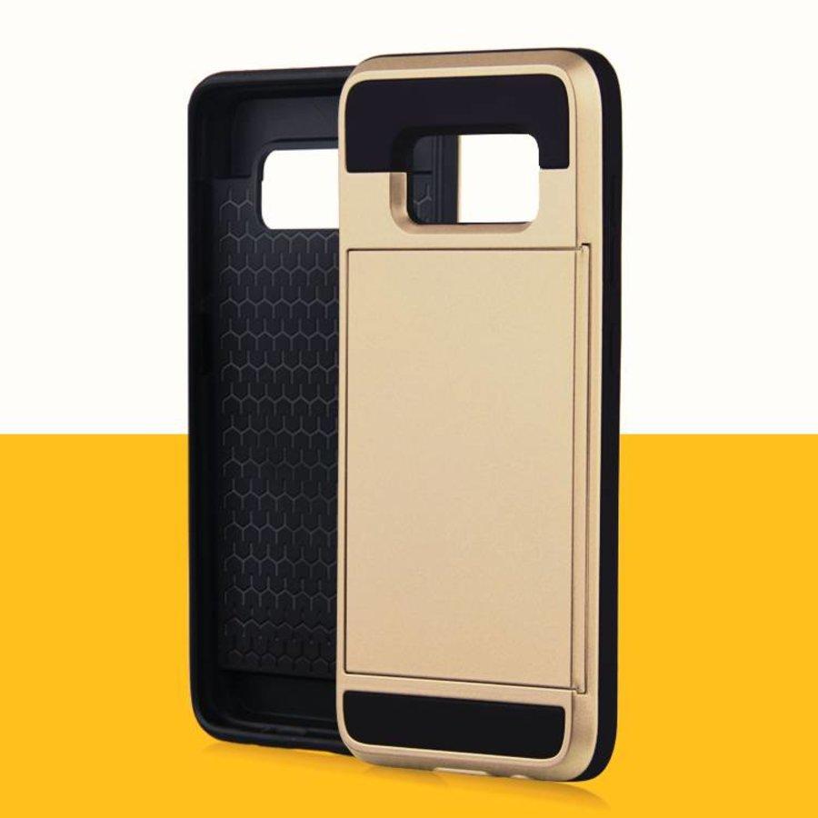 Samsung S8 Hybrid telefoonhoesje kaarthouder - Goud-3