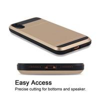 thumb-Apple Iphone XS Hybrid telefoonhoesje kaarthouder - Goud-4