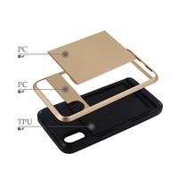 thumb-Apple Iphone XS Hybrid telefoonhoesje kaarthouder - Goud-5
