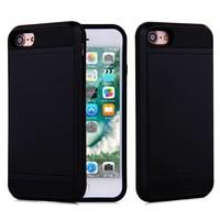Apple Iphone 8 Hybrid telefoonhoesje kaarthouder - Zwart