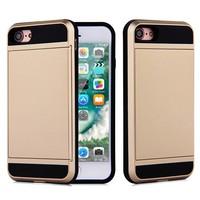 thumb-Apple Iphone 8 Hybrid telefoonhoesje kaarthouder - Goud-1