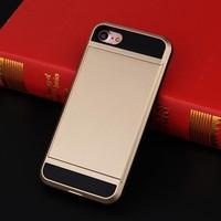 thumb-Apple Iphone 8 Hybrid telefoonhoesje kaarthouder - Goud-2