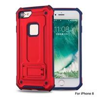 thumb-Apple Iphone 8 hybrid kickstand telefoonhoesje - Rood-1