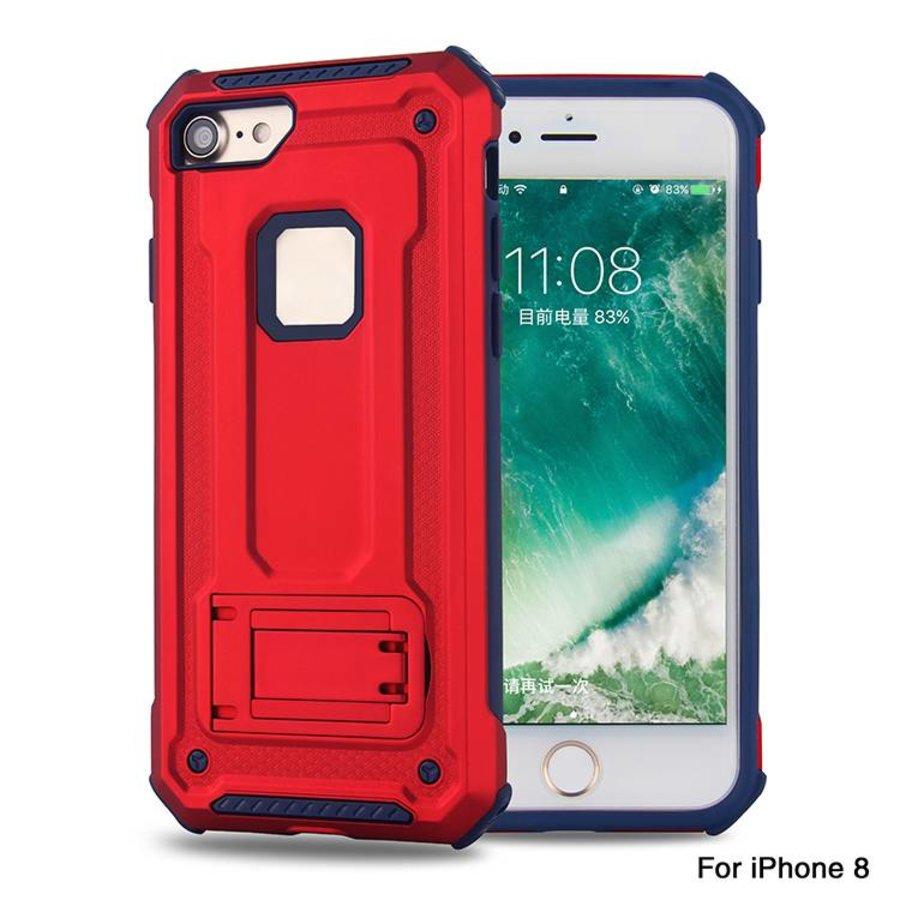 Apple Iphone 8 hybrid kickstand telefoonhoesje - Rood-1