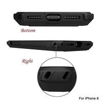 thumb-Apple Iphone 8 hybrid Kickstand telefoonhoesje - Zwart rood-2