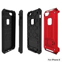 thumb-Apple Iphone 8 hybrid kickstand telefoonhoesje - Rood-3