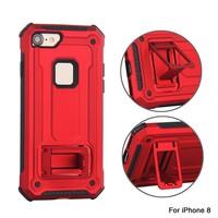 thumb-Apple Iphone 8 hybrid kickstand telefoonhoesje - Rood-2