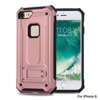 thumb-Apple Iphone 8 Plus hybrid kickstand telefoonhoesje - Roze goud-1