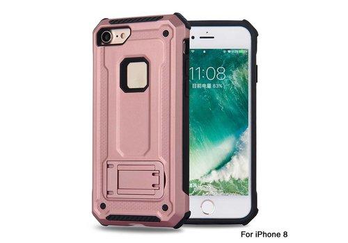 Apple Iphone 8 Plus hybrid kickstand telefoonhoesje - Roze goud