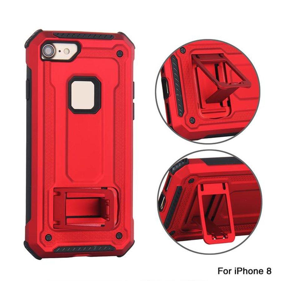 Apple Iphone 8 Plus hybrid kickstand telefoonhoesje - Rood-3