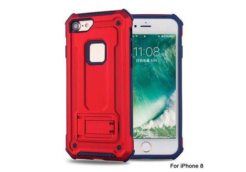 Apple Iphone 8 Plus hybrid kickstand telefoonhoesje - Rood