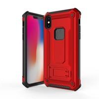 thumb-Apple Iphone XS hybrid kickstand telefoonhoesje - Rood-1