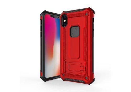 Apple Iphone XS hybrid kickstand telefoonhoesje - Rood