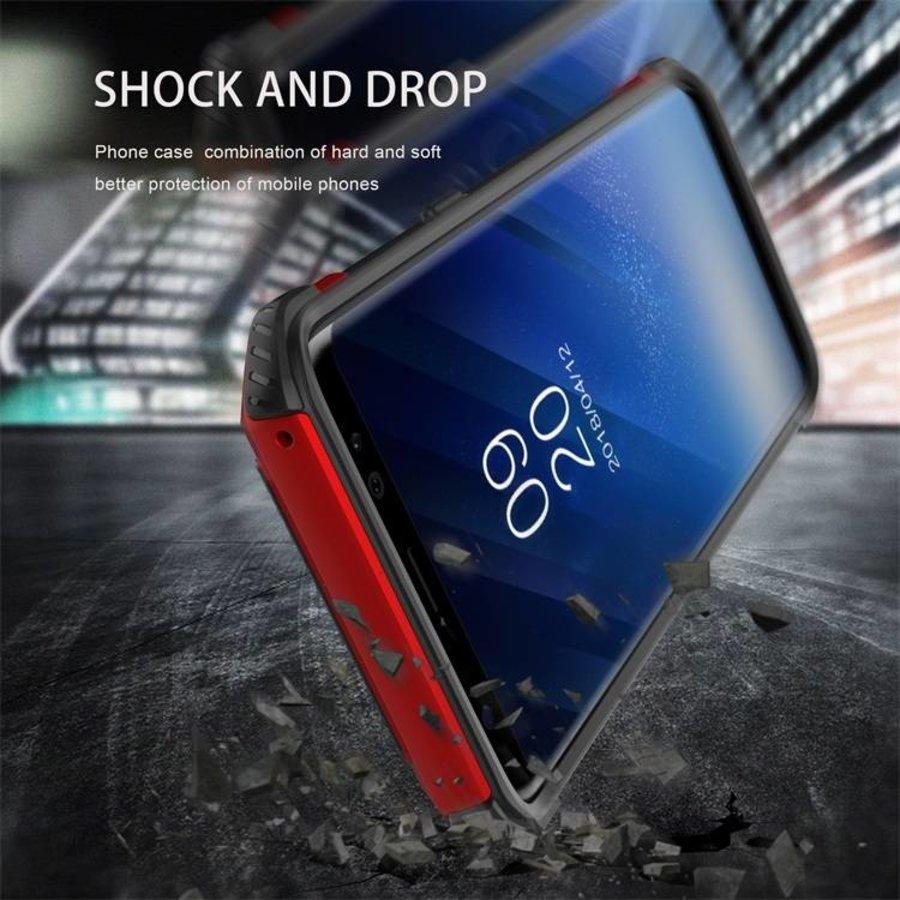 Samsung S8 hybrid kickstand telefoonhoesje - Zwart rood-3