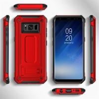 thumb-Samsung S8 hybrid kickstand telefoonhoesje - Rood-2