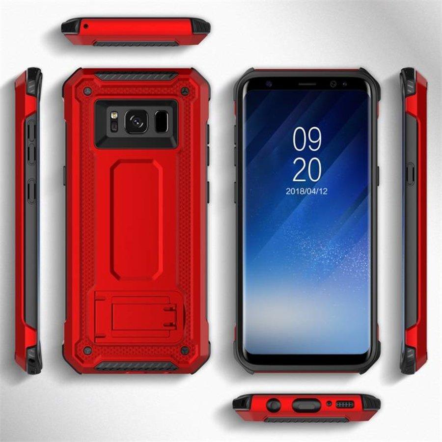 Samsung S8 hybrid kickstand telefoonhoesje - Rood-2