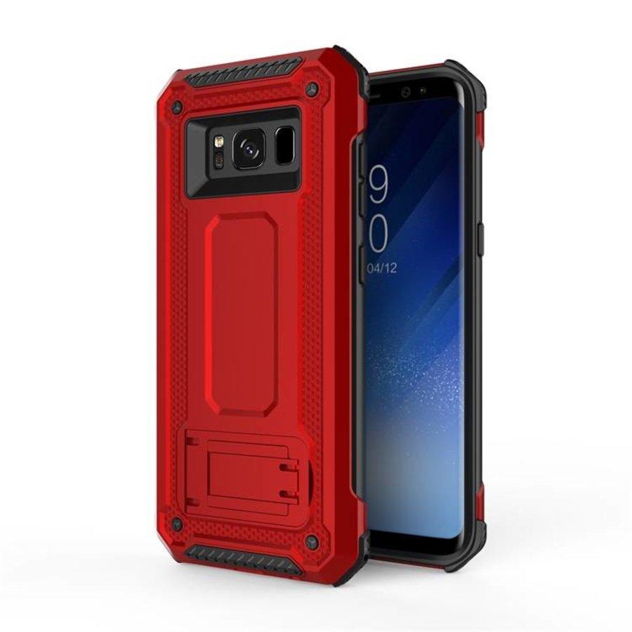 Samsung S8 hybrid kickstand telefoonhoesje - Rood-1
