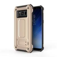 thumb-Samsung S8 hybrid kickstand telefoonhoesje - Goud-1