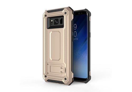 Samsung S8 hybrid kickstand telefoonhoesje - Goud