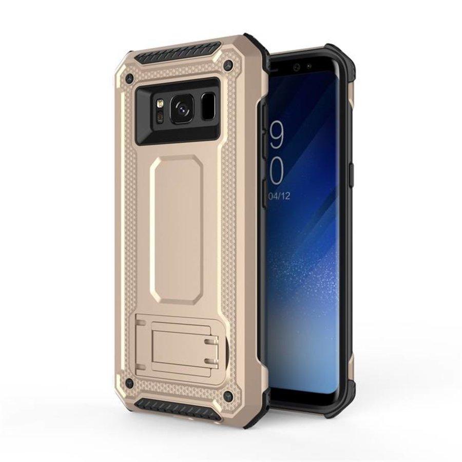 Samsung S8 hybrid kickstand telefoonhoesje - Goud-1