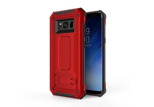 Samsung S8 Plus hybrid kickstand telefoonhoesje - Rood