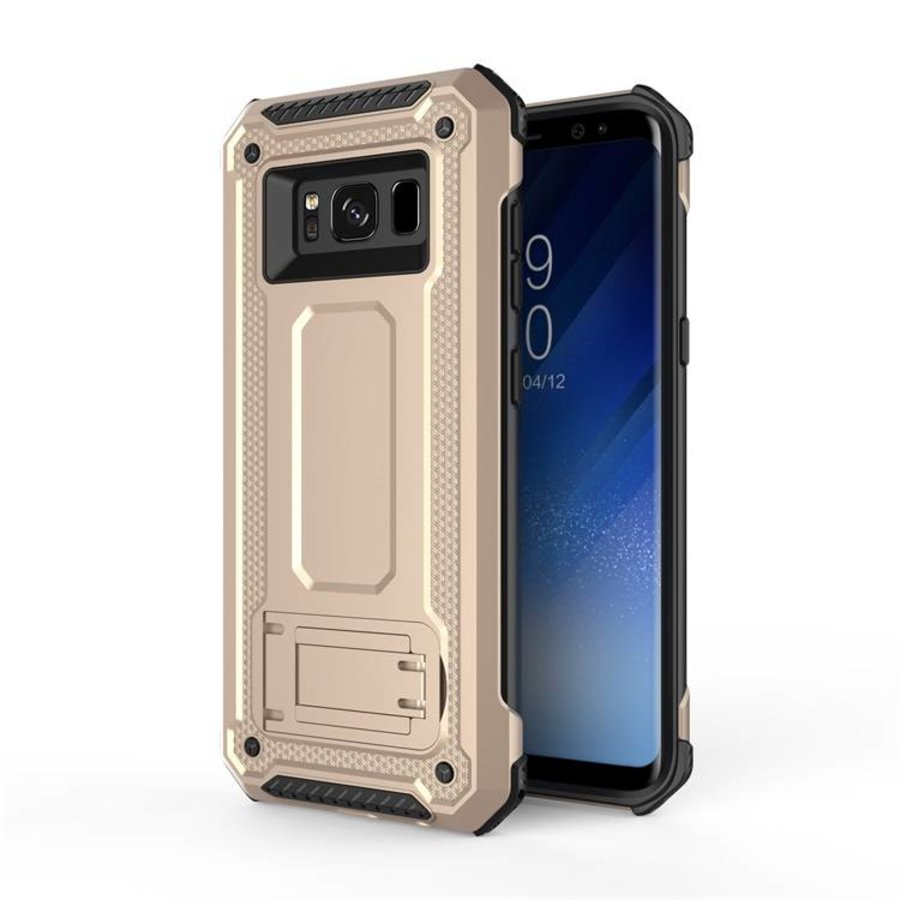 Samsung S8 Plus hybrid kickstand telefoonhoesje - Goud-1