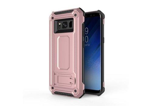 Samsung S8 Plus hybrid kickstand telefoonhoesje - Roze goud