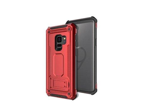 Samsung S9 hybrid kickstand telefoonhoesje - Rood