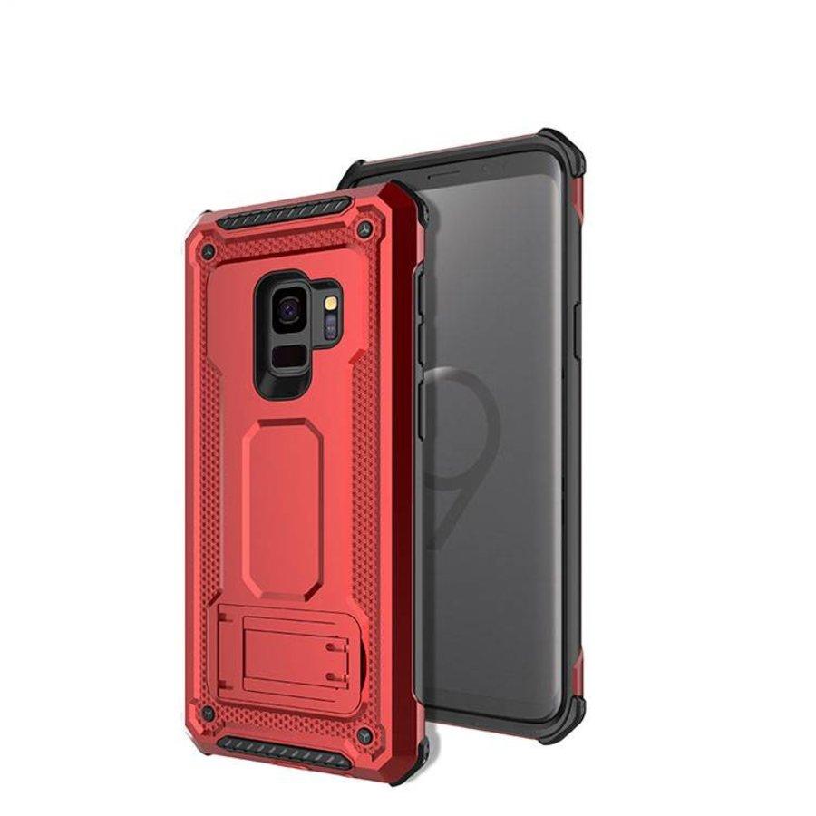 Samsung S9 hybrid kickstand telefoonhoesje - Rood-1