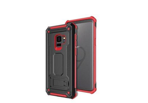 Samsung S9 hybrid kickstand telefoonhoesje - Zwart rood