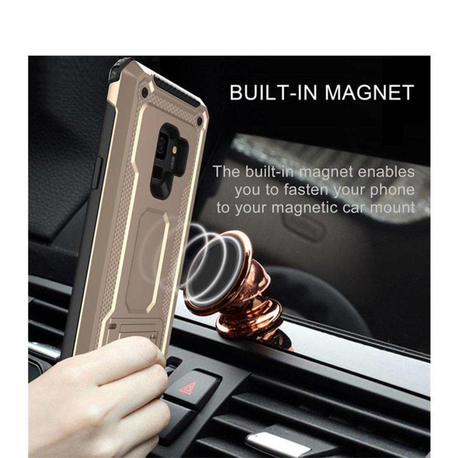 Samsung s9 hybrid kickstand telefoonhoesje - Goud-2