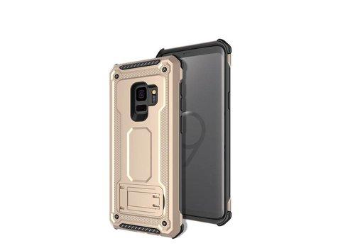 Samsung s9 hybrid kickstand telefoonhoesje - Goud
