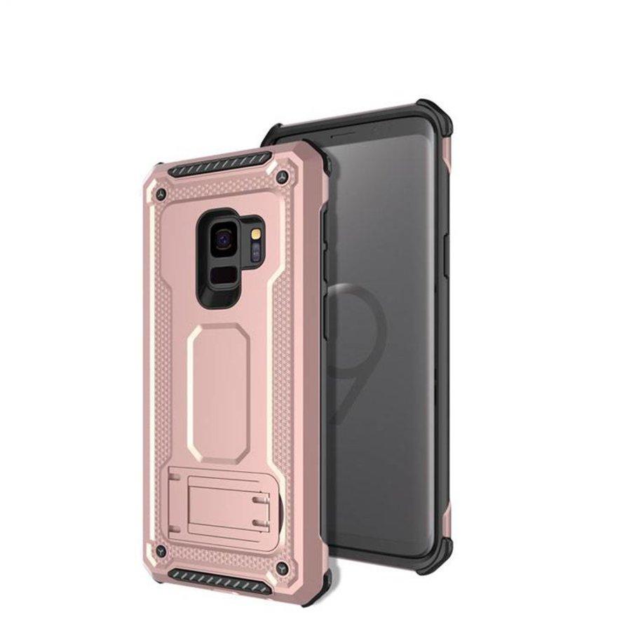 Samsung S9 hybrid kickstand telefoonhoesje - Roze goud-1