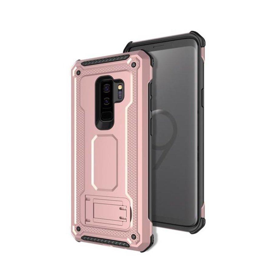 Samsung S9 Plus hybrid kickstand telefoonhoesje - Roze goud-1